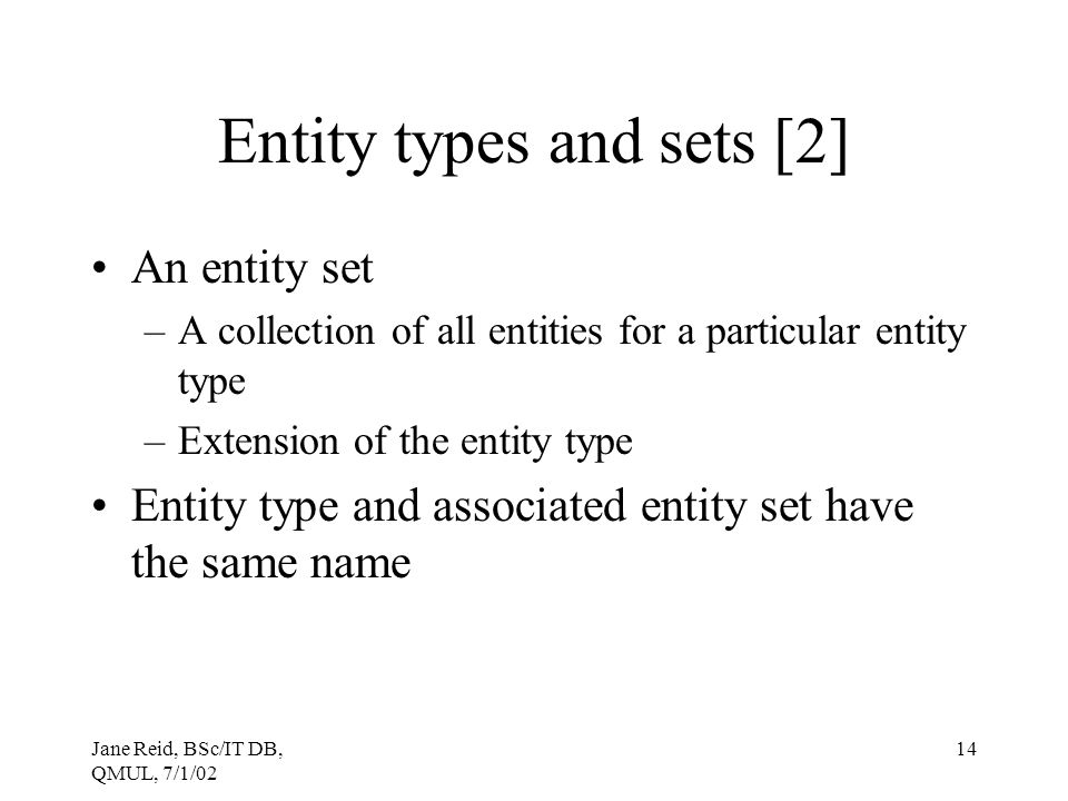 Entity types and sets [2]
